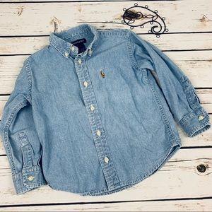 Ralph Lauren Shirts & Tops - Ralph Lauren Button Down Shirt Denim Blue Jean